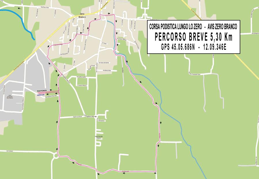 percorso breve 5 km corsa fiume zero avis