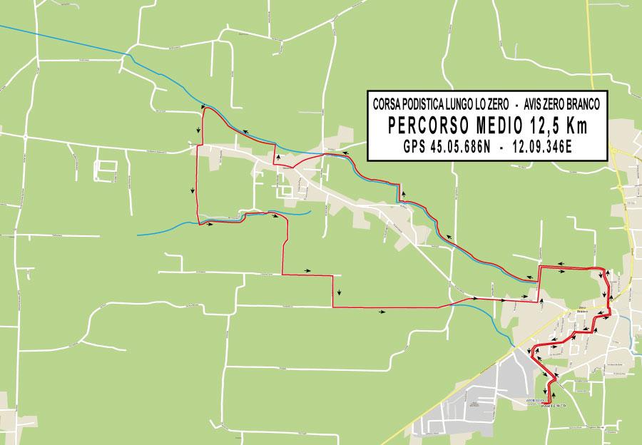 percorso medio 12 km corsa fiume zero avis